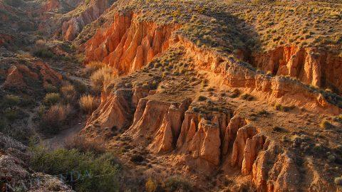 Where Sierra Nevada dives into the desert